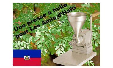 Project visual Une presse à huile pour Les Amis d'Haïti
