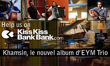 "Visuel du projet EYM Trio - New Album ""Khamsin"""