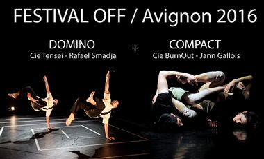 Visueel van project Domino + Compact au Festival OFF d'Avignon 2016