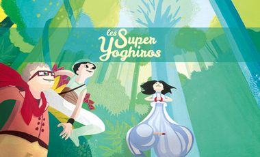 Project visual Les Super Yoghiros en Amazonie, le livre.