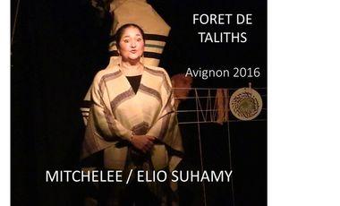 """Visuel du projet Spectacle """"Forêt de taliths"""""""