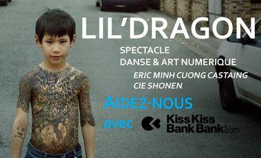 Project visual lil'dragon -  danse, art numérique & des enfants sur scène
