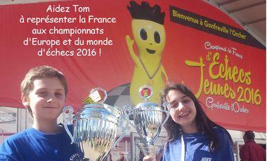 Project visual Participation aux championnats d'Europe et du monde d'échecs 2016
