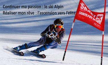 Visuel du projet Continuer ma passion : le ski Alpin,  Réaliser mon rêve : l'ascension vers l'élite