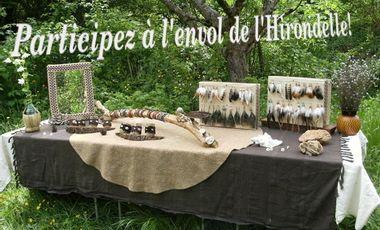 Visuel du projet Hirondelle Création, bijoux et artisanat naturel