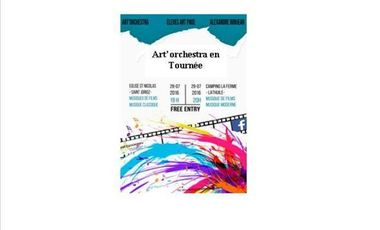 Visueel van project Art'Orchestra en tournée