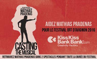 Visuel du projet Aidez Mathias Pradenas pour son départ au Festival OFF d'Avignon avec 2 spectacles !