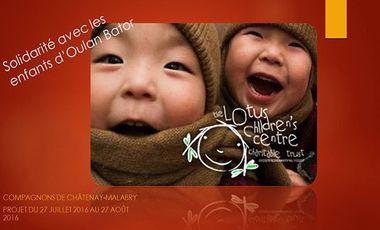 Project visual Solidarité avec les enfants d'Oulan Bator