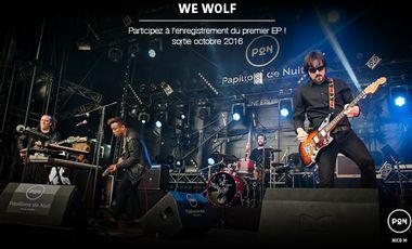 Visuel du projet 1er EP du groupe We Wolf
