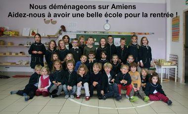 Visuel du projet Soutenez l'Ecole Montessori d'Amiens