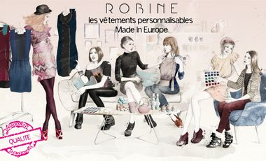 Visuel du projet Robine, les vêtements personnalisables Made In Europe