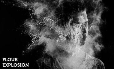 Project visual Flour Explosion Exhibition