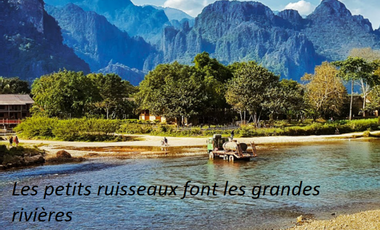"""Visueel van project """"Les petits ruisseaux font les grandes rivières"""""""
