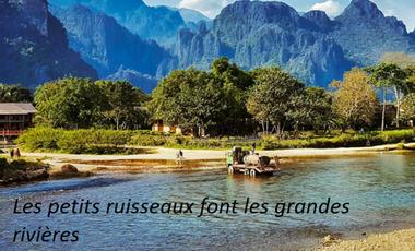 "Project visual ""Les petits ruisseaux font les grandes rivières"""