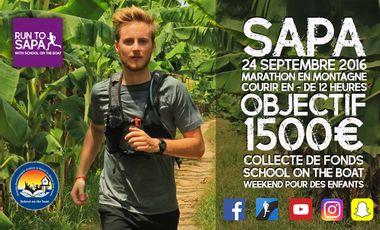 "Visueel van project RUN TO SAPA with ""School on the boat"""