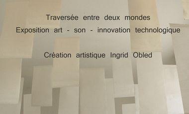 Project visual Exposition art - son - innovation technologique et humanisme : Traversée entre deux mondes