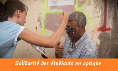 Visueel van project Solidarité des Etudiants en Optique de l'ISO LYON