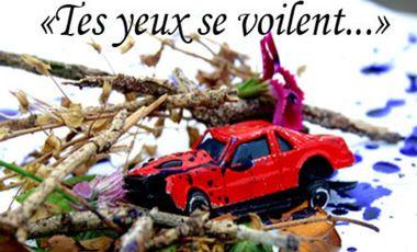 """Visueel van project création théâtrale """"tes yeux se voilent"""""""