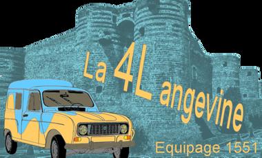 """Visuel du projet """"la 4L angevine"""" - équipage 1551"""