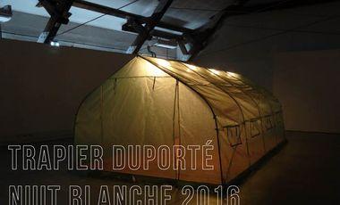 Project visual Trapier Duporté - Nuit Blanche 2016