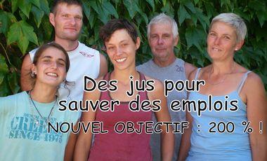 Visuel du projet Des Jus Pour Sauver Des Emplois : Nouvel Objectif !