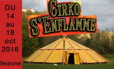 Visueel van project Cirko S'Enflamme, Festival de cirque