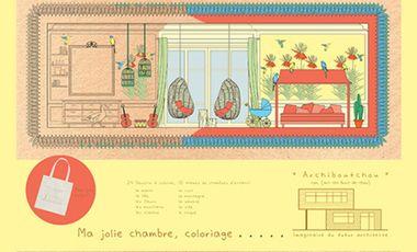 Visuel du projet Aidez Archiboutchou, imaginaire du futur architecte. Des coloriages, pour développer l'imaginaire des enfants