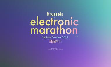 Project visual Brussels Electronic Marathon