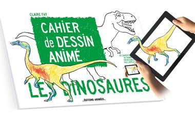 Visuel du projet Cahier de Dessin Animé - Les Dinosaures +Application BlinkBook