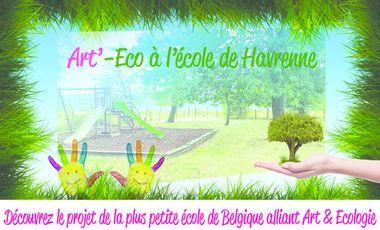 Visuel du projet Art'-eco pour la plus petite école de Belgique