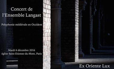 Visuel du projet Concert de polyphonie médiévale par l'ensemble Langast