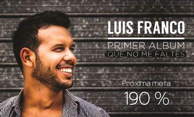 Visueel van project QUE NO ME FALTES, mi primer CD