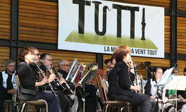 Visueel van project TUTTI, la musique à vent tout