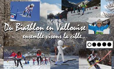 Project visual Du Biathlon en Vallouise, ensemble visons la cible!