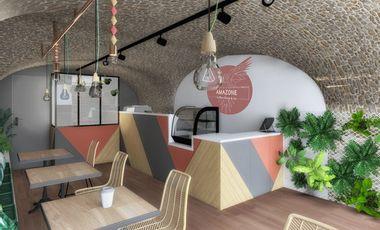 "Project visual Amazone coffee shop&Co votre shop  ""healthy&organic"""