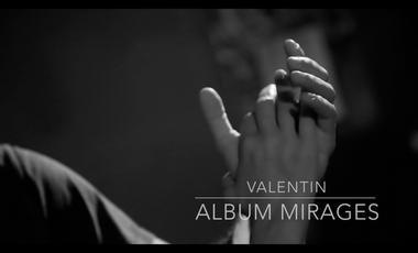 Visuel du projet 'Mirages' album piano solo VALENTIN