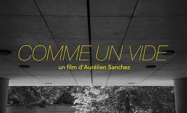 Project visual COMME UN VIDE // Court-métrage en noir et blanc