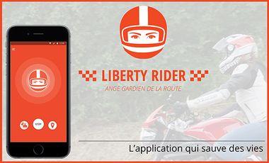 Visuel du projet Liberty Rider : l'application qui sauve des vies