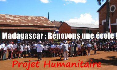 Project visual Madagascar : Rénovons une école !
