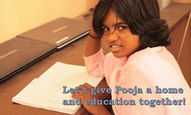 Visueel van project Let's give Pooja a home and education together!
