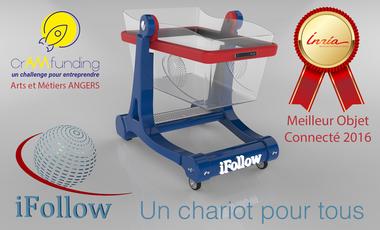 Visuel du projet iFollow, un chariot pour tous