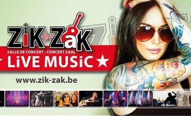 Visueel van project zik-zak, salle de concert
