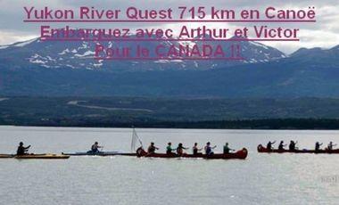 Project visual Aidez-nous à financer notre course de Canoë 715 km sur le Yukon Canada