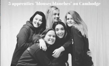"Visueel van project 5 apprenties ""blouses blanches"" au Cambodge"