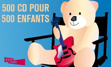 Visuel du projet 500 CD pour 500 enfants !