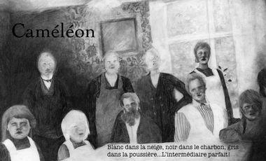 "Visueel van project ""CAMELEON"" d'après l'oeuvre de Jean Muno"