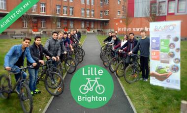 Visueel van project Des Ados à vélo, un projet écolo.