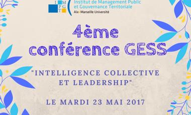 """Visuel du projet Conférence """"Intelligence collective et leadership"""", Master GESS"""