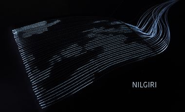 Visueel van project NILGIRI, textiles lumineux aux Ateliers Weiss