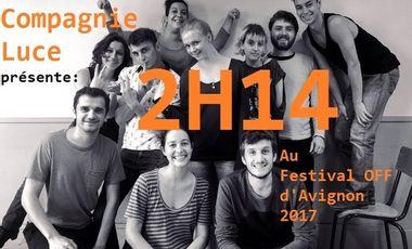 Project visual 2H14 au Festival OFF d'AVIGNON